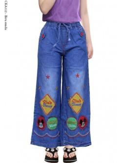 CKA112 Celana Kulot Jeans Anak Bordir