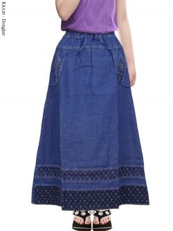 RA320 Rok Jeans Anak Tanggung List Motif Bintang
