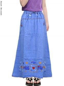 RA336 Rok Jeans Anak Tanggung Bordir Fila