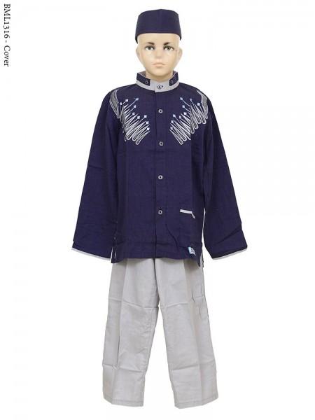 BML1316 (7-12) Baju Koko Anak Bordir