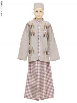 BML1317 (7-12) Baju Koko Anak Celana Sarung