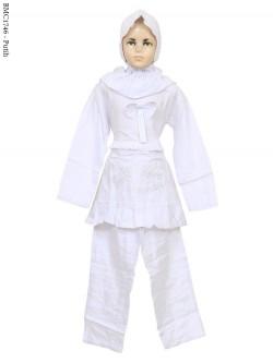 BMC1746 (7-12) Baju Anak Setelan Celana Putih
