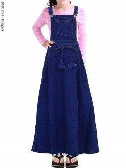 BMC1743 (22-26) Overall Jeans Anak Tanggung Tali