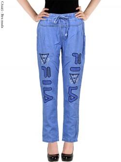 CA445 Celana Jeans Remaja/ABG Dewasa Bordir Fila