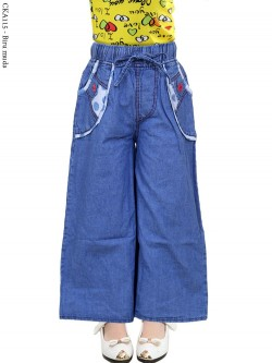 CKA115 Celana Kulot Jeans Anak List Motif