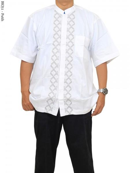 BKJ51 Baju Koko Albatar Jumbo Bordir