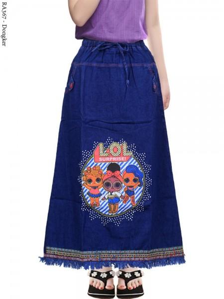 RA367 Rok Jeans Anak Tanggung Rawis 6-11th
