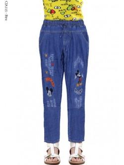 CJA115 Celana Anak Bordir Micky Mouse