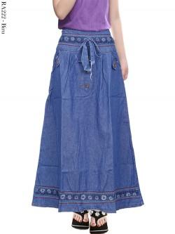 RA222 Rok Jeans Anak List Bunga 6-10th