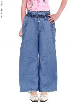 CKA93 Celana Kulot Jeans Anak List Motif