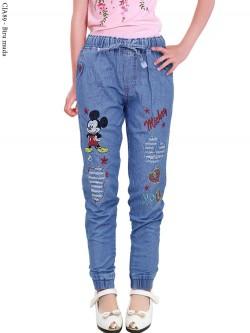 CJA89 Celana Jogger Anak Tanggung Mickey Mouse