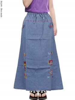 RA380 Rok Jeans Anak Tanggung Bordir LOL
