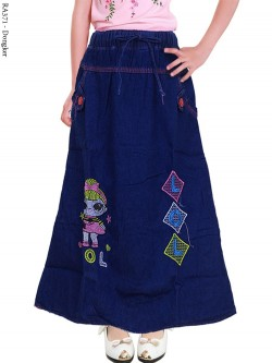 RA371 Rok Jeans Anak Bordir LOL 3-5Th