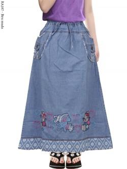 RA387 Rok Jeans Anak Bordir Hellokitty