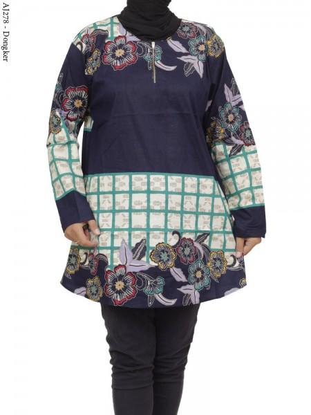 AJ278 Blus Katun Super Jumbo Batik