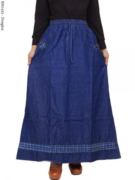 RM1433 Rok Jeans panjang List Motif