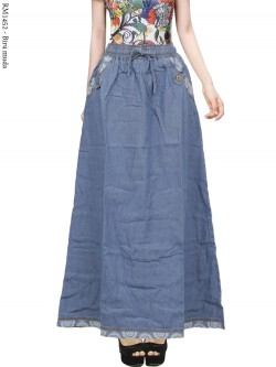 RM1452 Rok Jeans Remaja List Motif