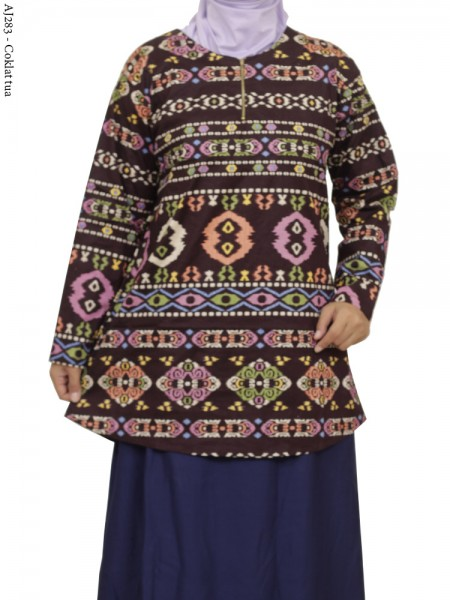AJ283 Blus Katun Stretch Super Jumbo Batik