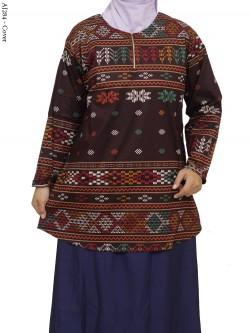 AJ284 Blus Katun Stretch Super Jumbo Batik