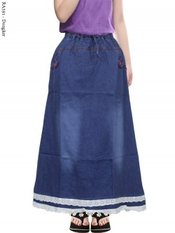 RA391 Rok Jeans Anak Tanggung List Renda