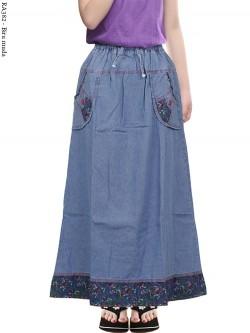 RA382 Rok Jeans Anak Tanggung List Motif