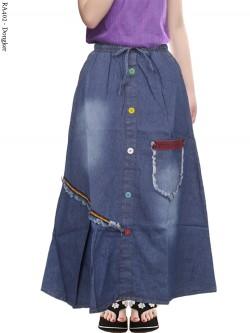 RA402 Rok Jeans Anak Kancing Rawis