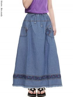 RA404 Rok Jeans Anak Tanggung Motif