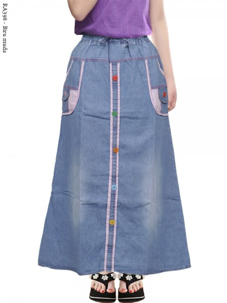 RA398 Rok Jeans Anak Kancing