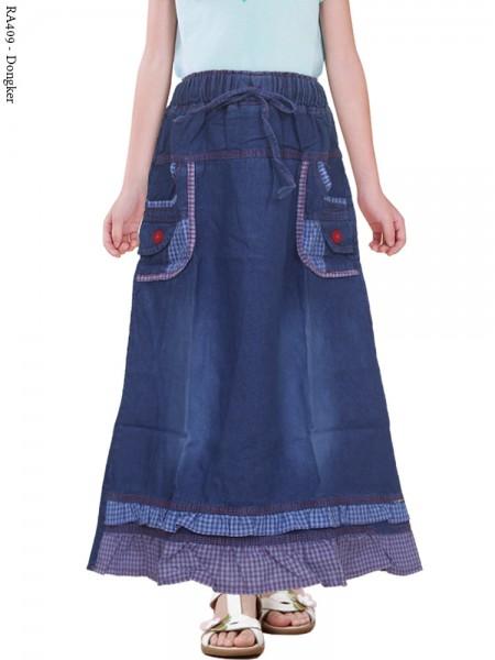 RA409 Rok Jeans Anak renda 3-5th