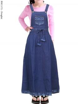 BMC1775 Overall Jeans Anak Tanggung List Motif