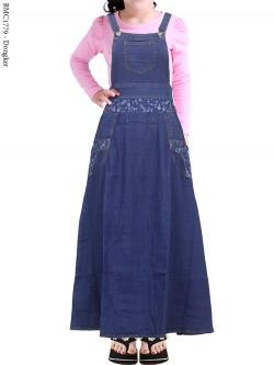 BMC1779 Overall Jeans Anak Tanggung List Bunga