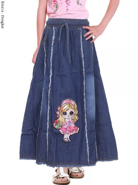 RA414 Rok Jeans Anak LOL LED Nyala 3-5th