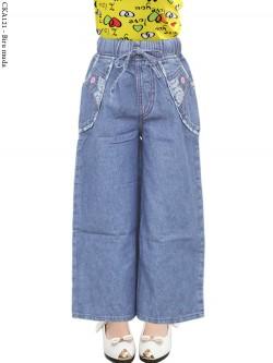 CKA121 Celana Kulot Jeans Anak List Motif