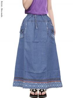 RA392 Rok Jeans Anak Tanggung List Renda