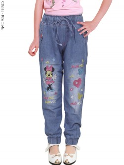 CJA131 Celana Jogger Jeans Anak Minnie Mouse 3-6th