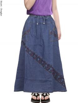 RA401 Rok Jeans Anak Tanggung Motif 6-10th