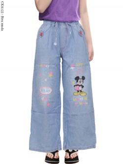 CKA122 Celana Kulot Jeans Anak Bordir