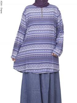 AJ291 Blus Rayon Super Jumbo Batik