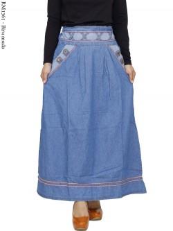 RM1361 Rok Jeans List Jahit Rantai