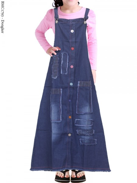 BMC1793 Overall Jeans Anak Rawis