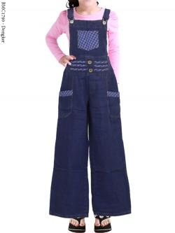 BMC1790 Overall Jeans Anak Celana Kulot