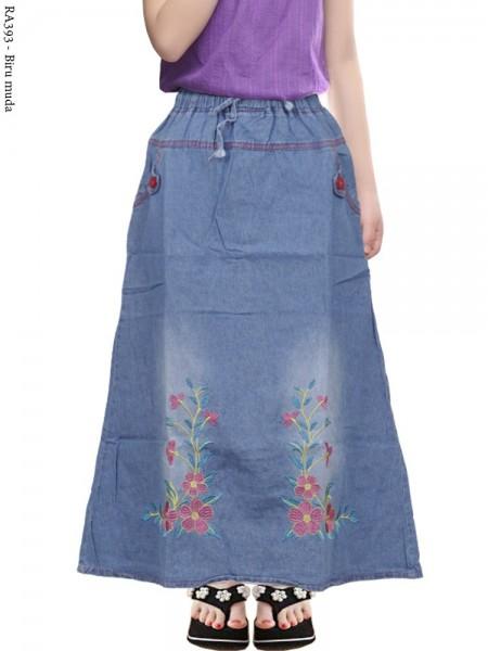 RA393 Rok Jeans Anak Bordir Bunga