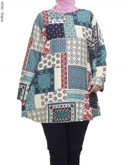 AJ293 Blus Rayon Super Jumbo Batik