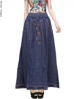 RM1464 Rok Jeans Remaja List motif Bunga