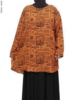 AJ294 Blus Wolfis Super Jumbo Batik