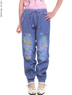 CJA134 Jogger Jeans Anak Bordir LOL