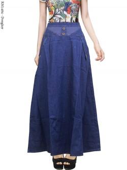 RM1484 Rok Jeans Remaja Hias Kancing