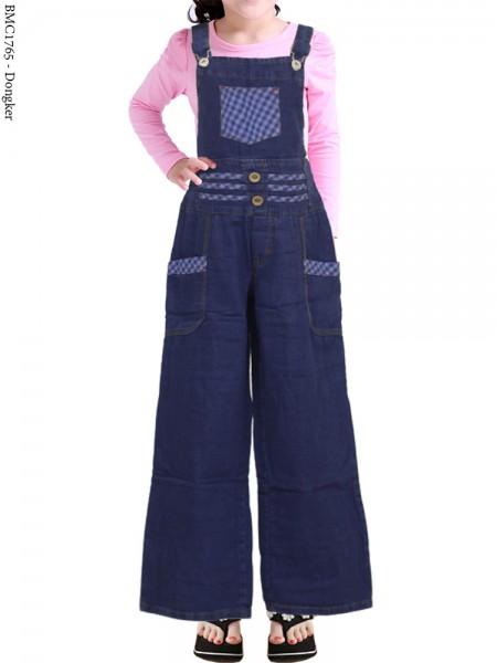 BMC1765 Overall Jeans Anak Celana Kulot