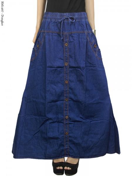 RM1487 Rok Jeans Jumbo Full Kancing