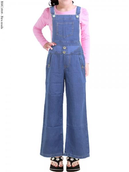 BMC1808 (16-20) Overall Jeans Anak Celana Kulot